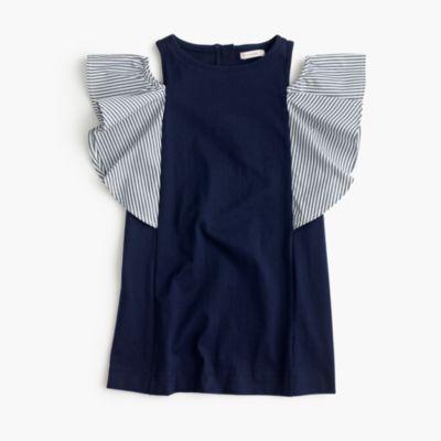 Girls' off-the-shoulder ruffle dress