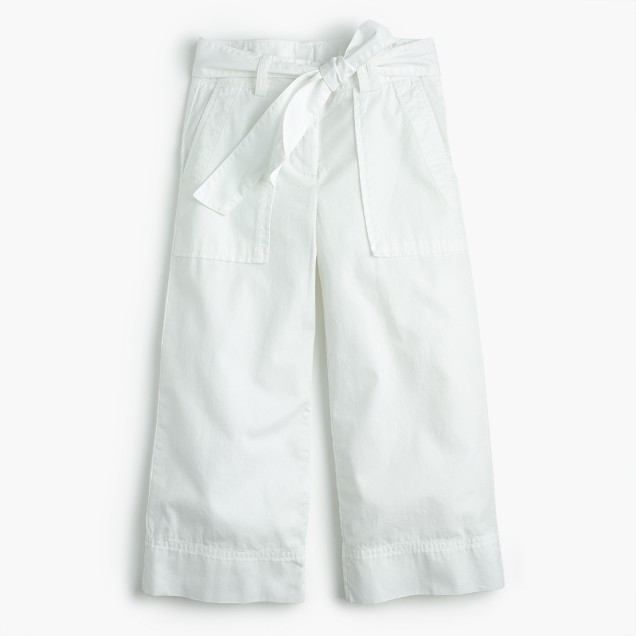 Girls' tie-front culotte