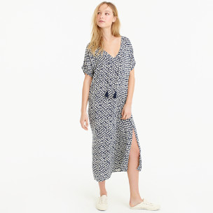 Caftan in abstract heart print