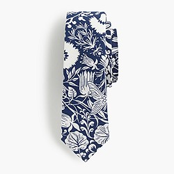 Boys' cotton tie in mermaid floral