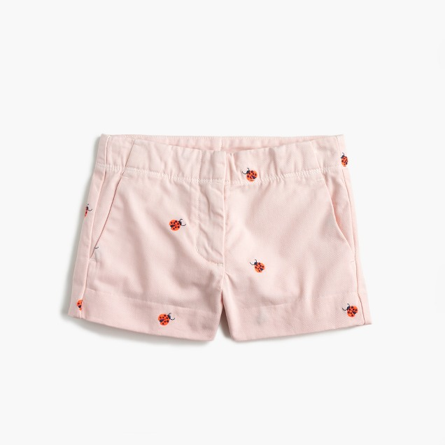 Girls' critter Frankie short in ladybugs