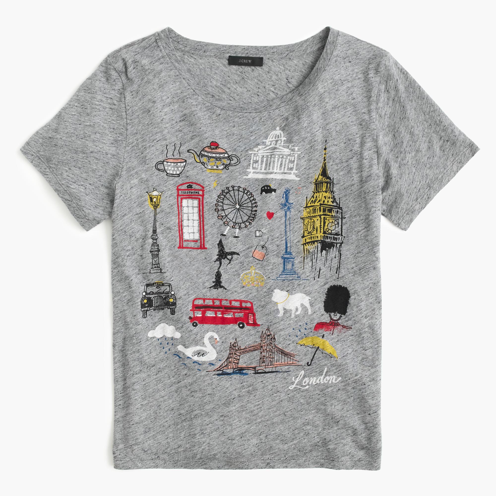 London Destination Art T Shirt Women 39 S Tees J Crew
