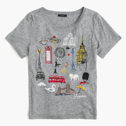 """London"" destination art T-shirt"