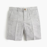 Boys' Stanton short in striped linen