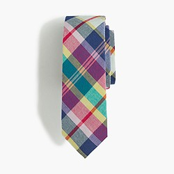 Boys' cotton tie in madras