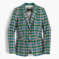 Rhodes blazer in vintage plaid