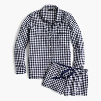 Cotton pajama set in gingham