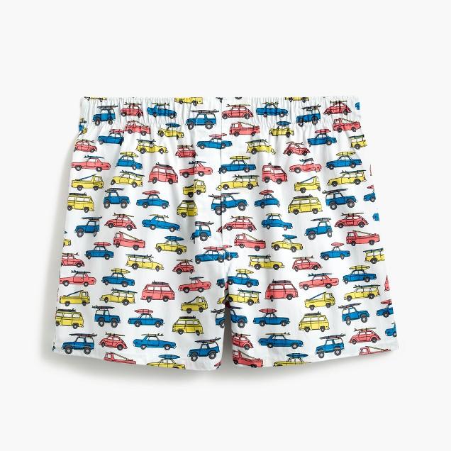 Car print boxers