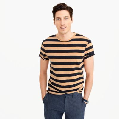 Tall garment-dyed T-shirt in stripe