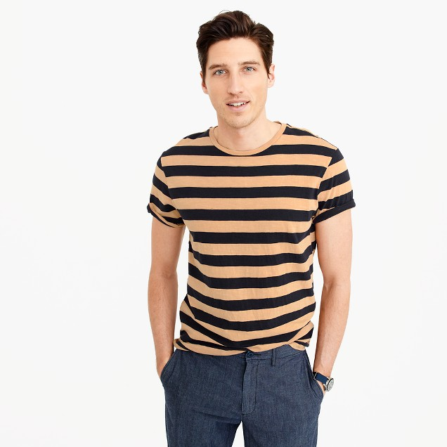 Garment-dyed T-shirt in stripe