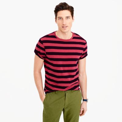 Garment-dyed T-shirt in stripe