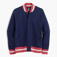 French terry baseball jacket