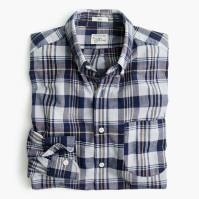 Slim madras shirt in ocean sun