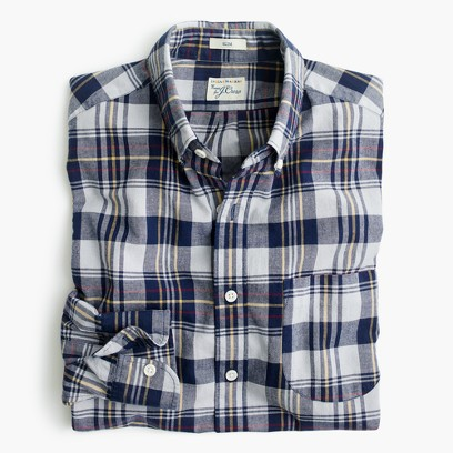 Men 39 s casual shirts button downs oxfords more j crew for Linen shirts for mens in chennai