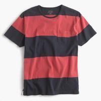 Cotton T-shirt in broad stripe