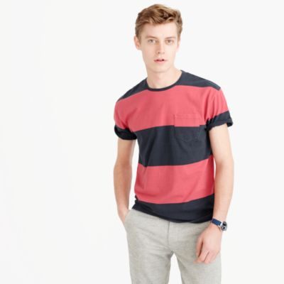 Cotton T-shirt in broad stripe