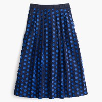 Tall midi skirt in fringe dot