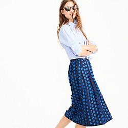 Petite midi skirt in fringe dot