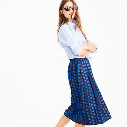 Midi skirt in fringe dot