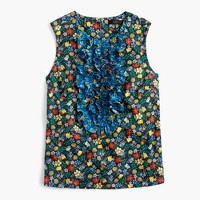 Collection ruffle-front top in Liberty® Edenham floral