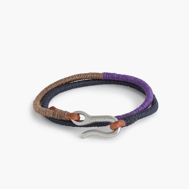 Caputo & Co.™ three-tone double-wrap bracelet