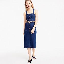 Petite denim apron dress