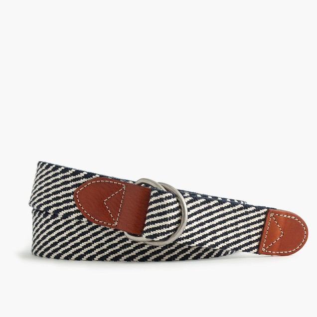 Cotton belt in navy stripe