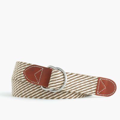 Cotton belt in stripe