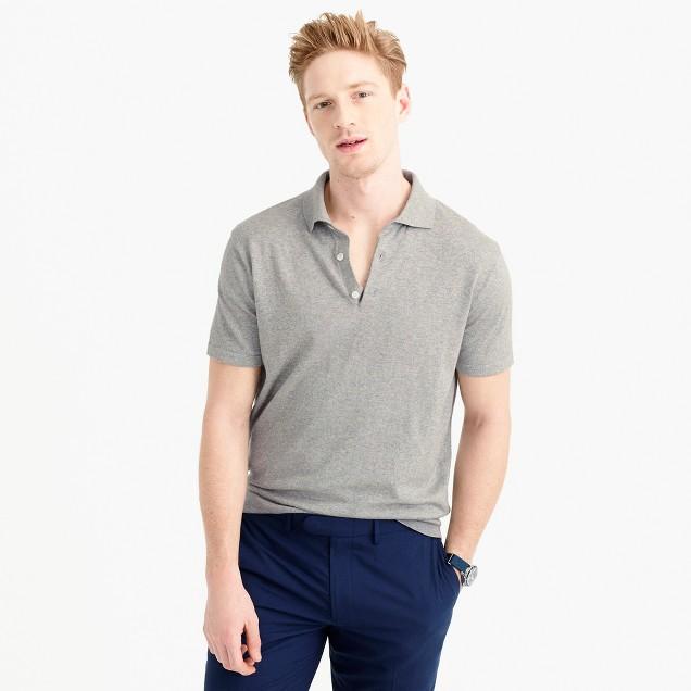Pima cotton short-sleeve sweater-polo