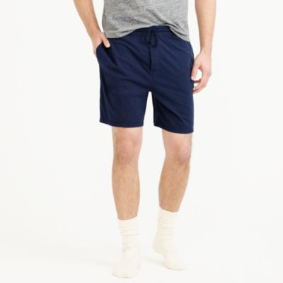 Cotton pajama short in navy