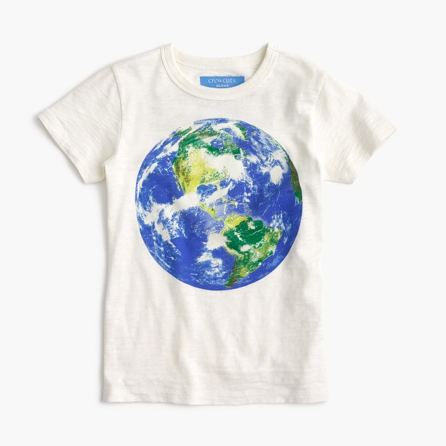 Boys' glow-in-the-dark earth T-shirt in the softest jersey