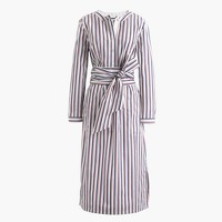 Thomas Mason® for J.Crew tie-waist shirtdress