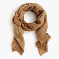Lightweight printed wool-silk scarf