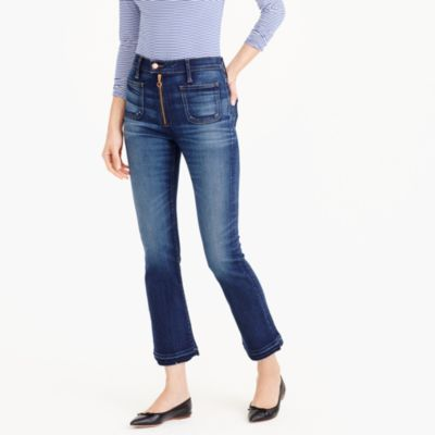 Point Sur vintage crop jean with exposed zipper