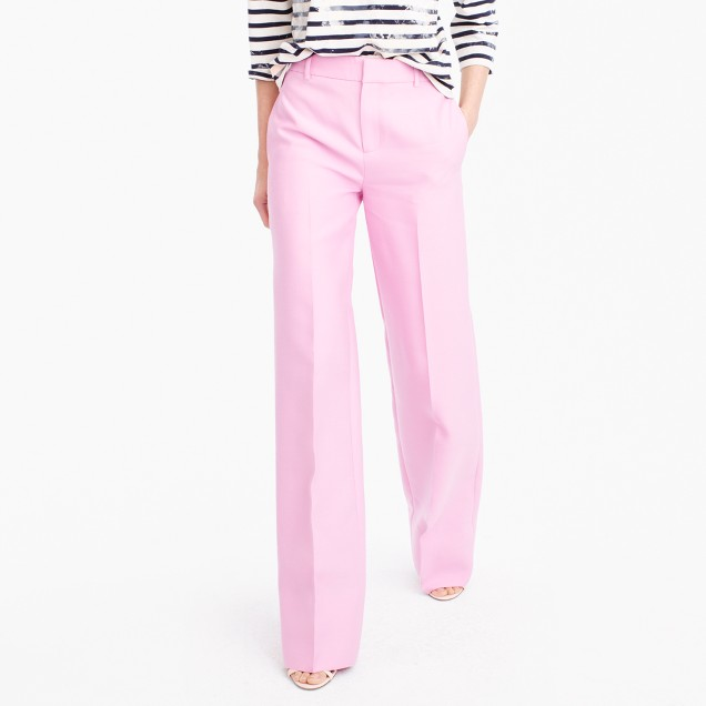 Collection full-length wool-silk pant