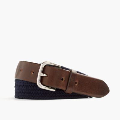 Braided web belt