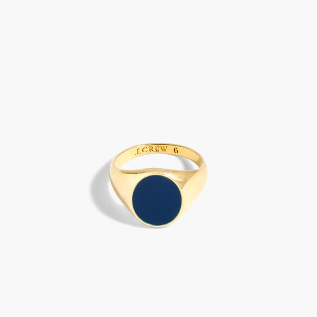 Small enamel signet ring