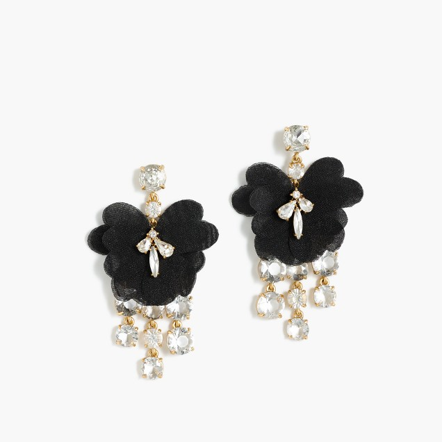 Petal crystal earrrings