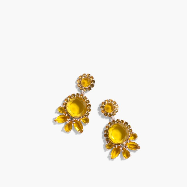 Sunshine crystal earrings