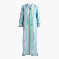 Linen caftan in vintage stripe