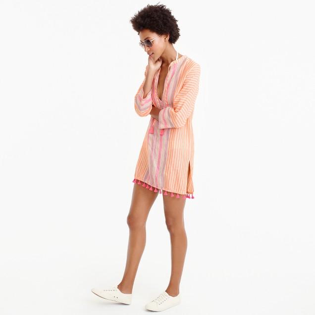 Linen tunic in vintage stripe