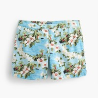 "6.5"" tab swim short in beach floral"