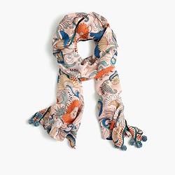 Ornate floral scarf