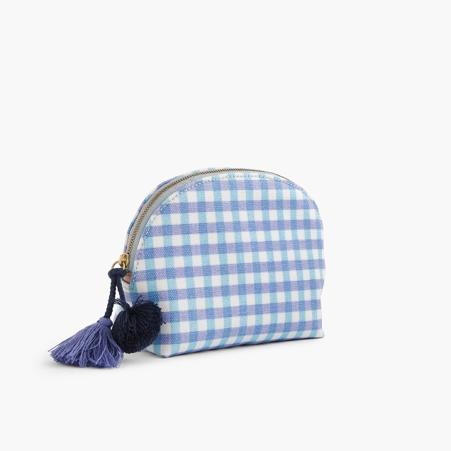 Makeup pouch in gingham print