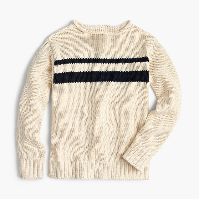 Boys' striped cotton rollneck™ sweater