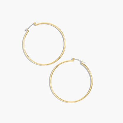 Antique-gold hoop earrings