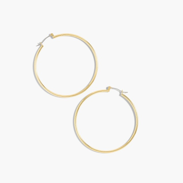Antique-gold hoop earrings