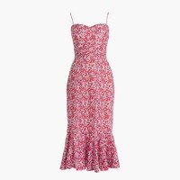 Ruffle-hem midi dress in Liberty® Wiltshire floral
