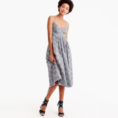 Tall spaghetti-strap dress in Liberty® June's Meadow floral