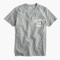 Pocket graphic T-shirt in heathered cotton